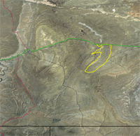 Thumbnail view of the boundary for the Deadman coal zone in the Black Butte area