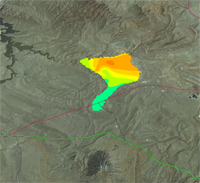 Thumbnail view of net coal thickness in the Hanna 77 coal zone