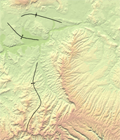 Thumbnail view of anticlines and synclines of the Lower White River coal field