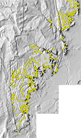 Thumbnail view of data points used in the assessment of coal in the southern Wasatch Plateau, UT