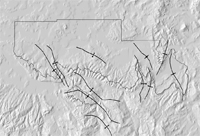 Thumbnail view of anticlines and synclines of the Yampa Coal Field