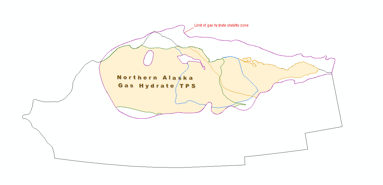 Graphical representation of gas hyrdrate assessment units in Northern Alaska Province