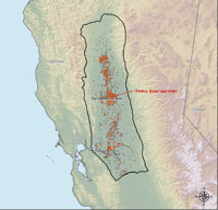 1/4-mile cells that represent wells in Sacramento Basin