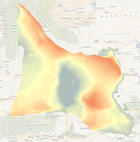 Estimated Depth to the Top of the Frontier Formation in Southwestern Wyoming