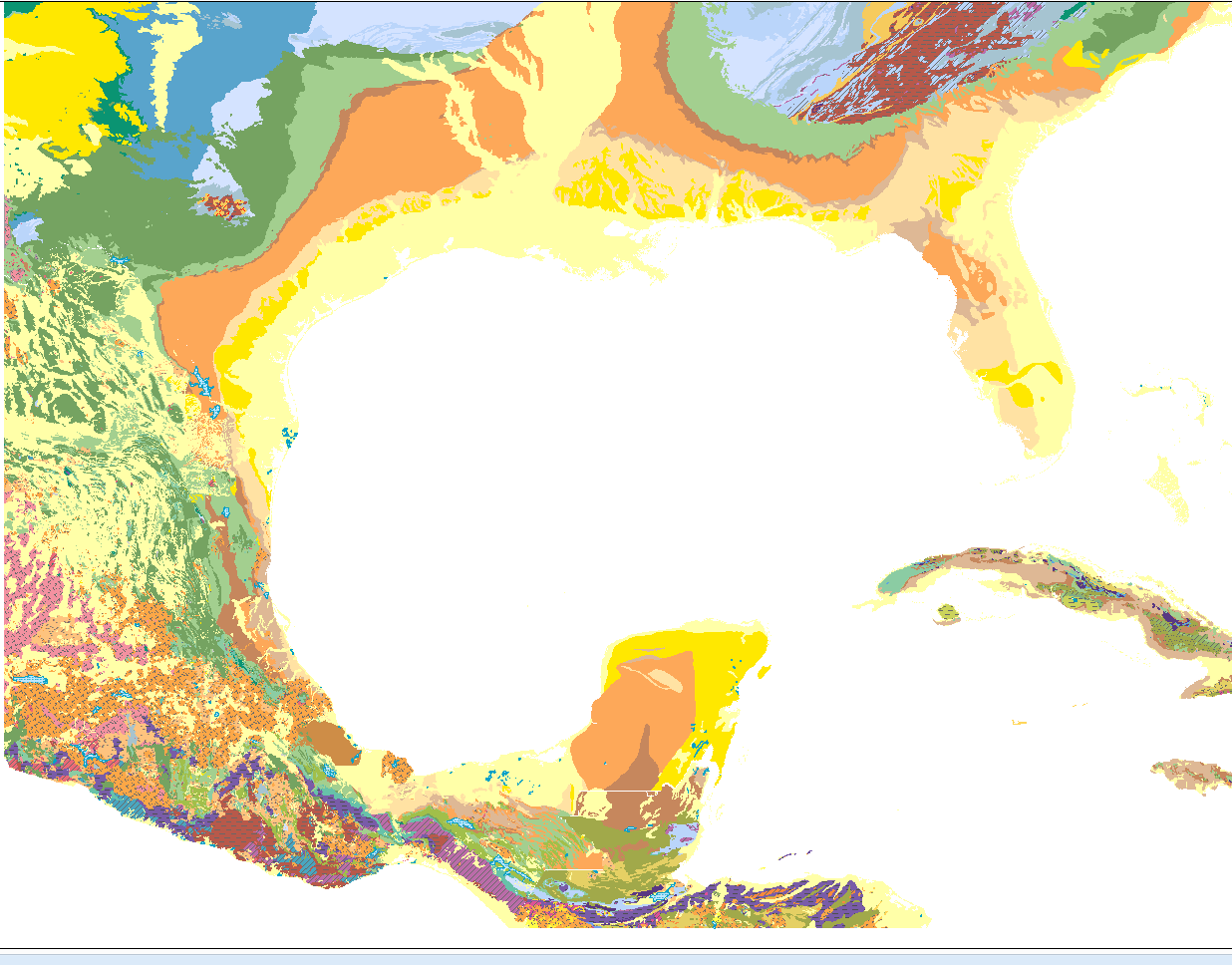 graphical representation of gulf of mexico geologic map