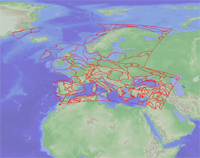 Graphic file of geologic provinces in Europe including Turkey