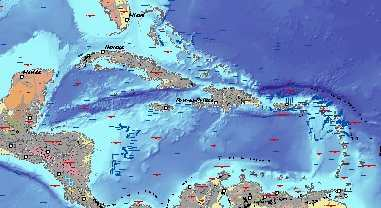 Caribbean region geology .gov data